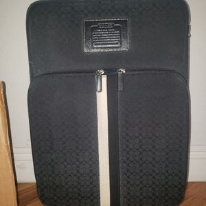 RARE AND DISCONTINUED black coach carryon suitcase